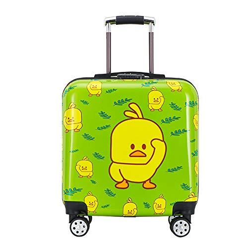 SONGXZ Maleta de dibujos animados para niños, maleta con candado de contraseña, maleta para estudiante, verde (Verde) - hnly-200