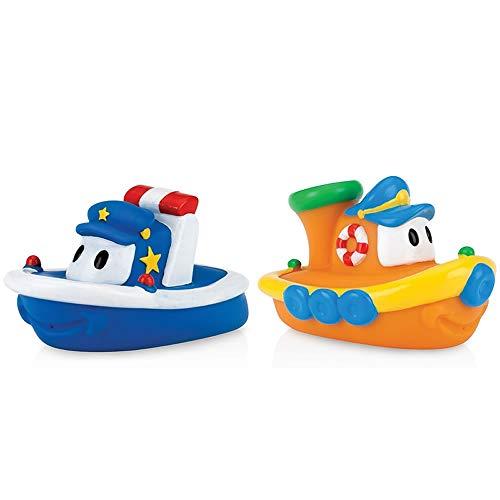 Nuby Nuby Tub Tugs Floating Bath Boats - 2 Pack N/A Blue Orange