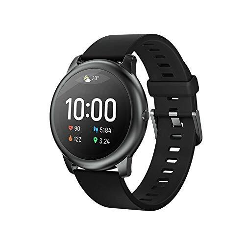 Reloj inteligente para hombre y mujer, para teléfonos Android iOS con monitor de sueño, frecuencia cardiaca, todo el día, resistente al agua, color negro