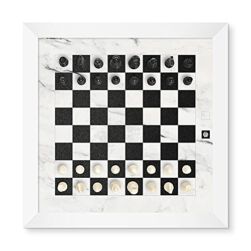 Home Magnetics Magnetic Wall Chess Set, White | Wall Mounted Chess...
