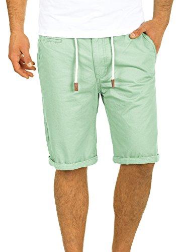 Blend Kaito Herren Chino Shorts Bermuda Kurze Hose Mit Kordel Aus 100% Baumwolle Regular Fit, Größe:L, Farbe:Foam Green (77206)