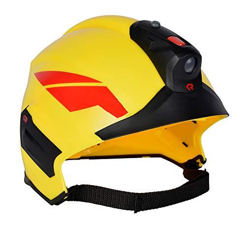 Simba 108101000 - Feuerwehr Helm Rosenbauer mit Licht / mit Abnehmbarer LED Helmleuchte / Variable Größeneinstellung