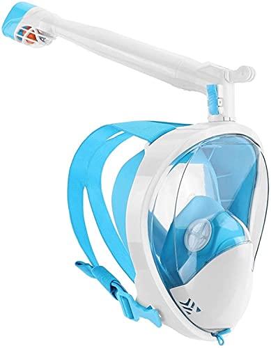 Mascara Buceo Máscaras de Snorkeling Máscaras de Buceo bajo el Agua Rotar de 360 Grados 180 Ver Anti-Fog Anti-Fugas Cara Completa Profesional Snorkel Engranaje para Adultos