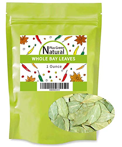 Premium Dried Bay leaves Whole 1 Oz, Whole Bay Leaf Dried, Natural Gluten Free Raw Non-irradiated & Non-GMO, Bay Laurel Leaves Spice Pair Well in Stew, Soup, Sauce, Seafood, Meat and Vegetable Dishes