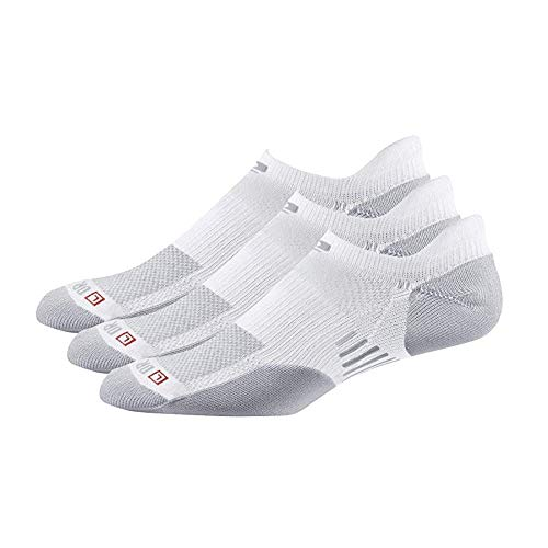 Drymax R-Gear No Show Running Socks for Men & Women (3-pairs) | Super Breathable Keep Feet Dry, Comfy and Blister-Free, M, White, MediumCushion