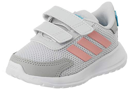adidas TENSAUR Run I, Scarpe da Ginnastica Unisex-Bambini, Dash Grey/Glory Pink/Bright Cyan, 27 EU