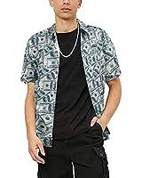 ALTOGUSTO Men's 3D Printed Hawaiian Short Sleeve Button Down Casual Tropical Shirts for Men Beach Hawaiian Aloha Shirt-XXXL