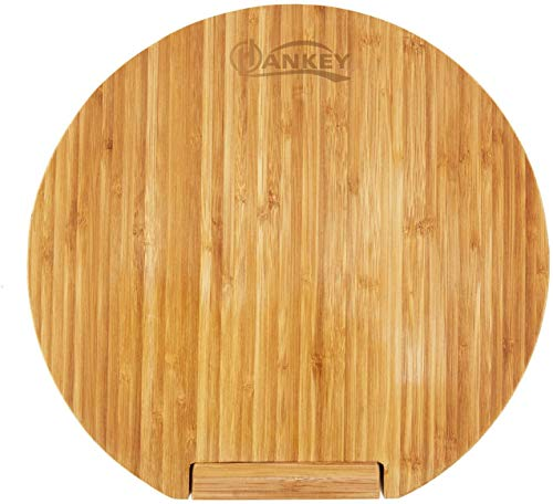 まな板 ピザボード 竹製 抗菌 丸い 立て型 φ28x2cm ZR01 HANKEY