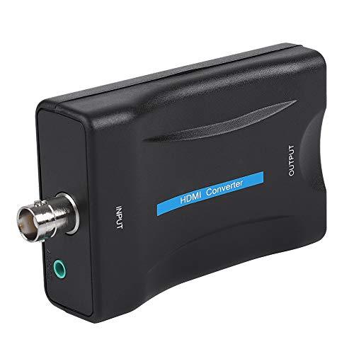 Lazimin Convertidor BNC a HDMI, 5V DC 1080P / 720P HD Display Video Adaptador Monitor de vigilancia, Compatible con DVD, Set-Top Box, Reproductores de Alta definición, Máquina de Juegos