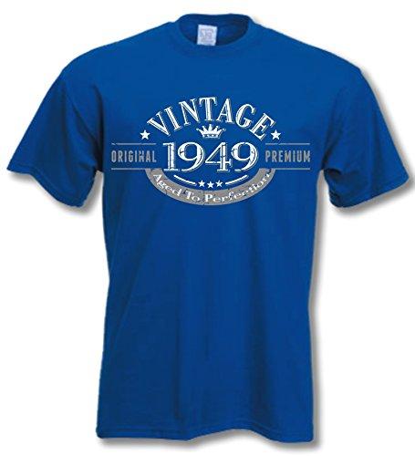 1949 Vintage Year - Cadeau d'anniversaire 68 Ans T-Shirt Bleu Royal S