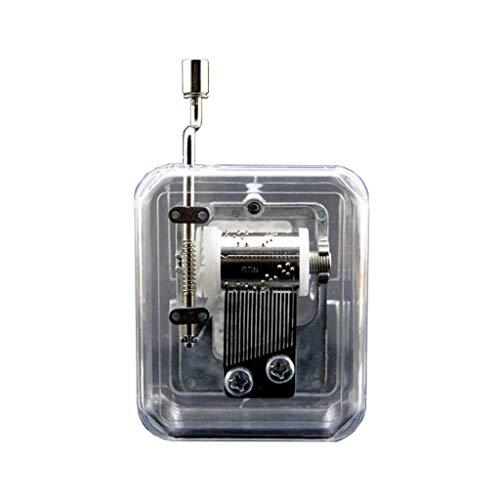 HJHJ Caja de música Creativa Caja De Música De Acrílico con Manivela Mini Caja De Música Transparente Mecanismo De Manivela Caja De Música Boda San Valentín (Color : Music For Alice)