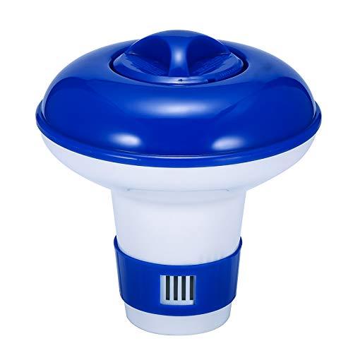 Salangae - Dispensador flotante para piscina, piscina flotante para productos químicos, dispensador de productos químicos para piscina, dispensador de cloro para piscina, spa (5 pulgadas)