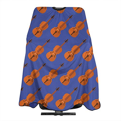 Violin Pattern Salon Hair Cutting Cape Cloth Barber Hairdressing Wrap Haircut Apron Cloth Styling Accessory For Unisex