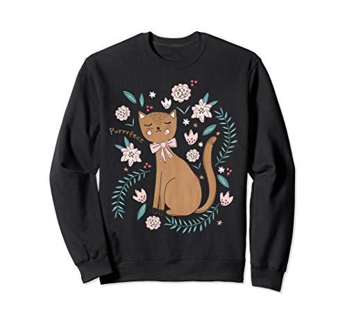 Purr-fect Süße Kitty Cats Katzen Mama Geburtstag Geschenk Sweatshirt