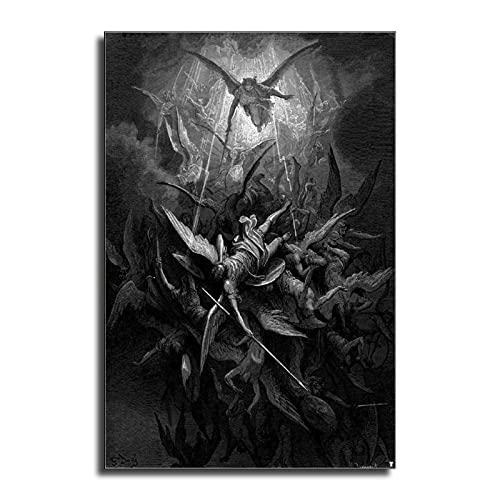 """FINDEMO - Poster decorativo da parete """"The Lost Paradise of John Milton"""", 40 x 60 cm"""