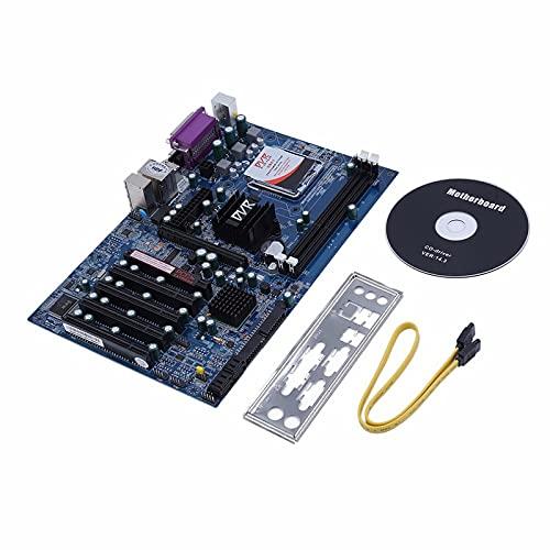 Placa Base para máquina minera BTC-G41,Placa Base para computadora de Escritorio,Placa Base para Juegos integrada,Conector para Placa Base,1 Ranura gráfica PCI-E X16 Compatible DDR3 1066/1333MHz