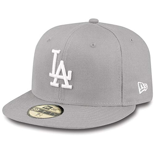 New Era MLB Basic LA Dodgers 59 Fifty Fitted Gorra, Hombre, Gris...