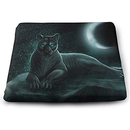 Saudade House Cushion Confort Cojín Cuadrado De Asiento Moonlight Black Leopard Print Cálido Cojines De Asiento De Patio para Muebles De Jardín Jardín Oficina En Casa