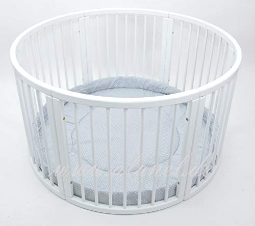 Rundes Laufgitter Playpen Play Pen mit Softeinlage Ø 120cm (DUE GREY)