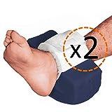 OrtoPrime 2er-Pack Fersenpolster gegen Wundliegen, wasserdicht, gebogene Form – Schutz für die Ferse gegen Wundliegen, orthopädisches Fußkissen, Universalgröße