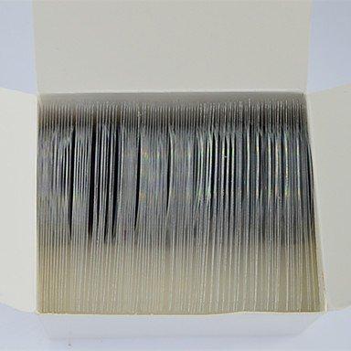 MZP Décoration étincelante d'arc-en-ciel de mode Ongles Beauté laser Silver Glitter clinquant bande bande