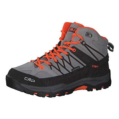 CMP Kinder Trekking Schuhe Rigel MID 3Q12944 Cemento-Flash Orange 29