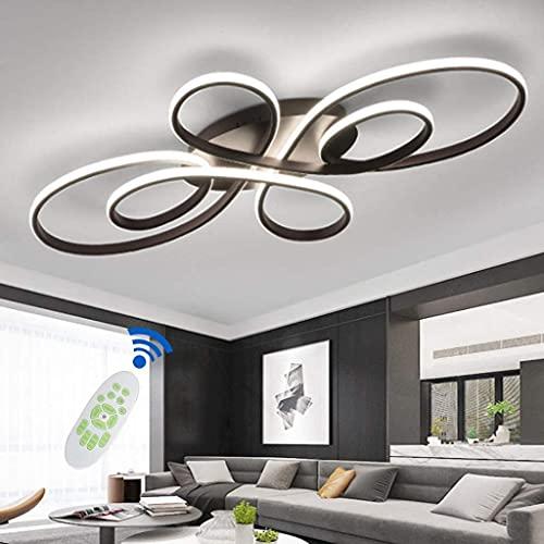 Luz De Techo LED Lámpara De Salón Lámpara De Techo Moderno Diseño Geométrico Luz De Techo Dimmable con Control Remoto De Aluminio Silica Gel Lámpara Mesa De Comedor Iluminación De Cocina, 100 Cm