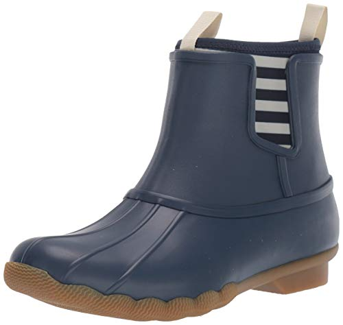 Sperry Womens Saltwater Chelsea Rubber Boots, Navy, 8