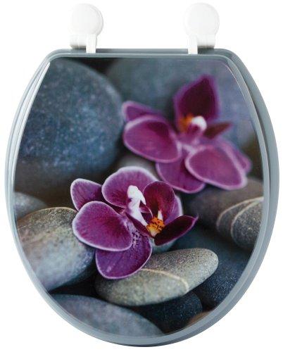 Gelco Design 706637 KOH Samui - Tapa para WC, diseño de guijarros y Flores