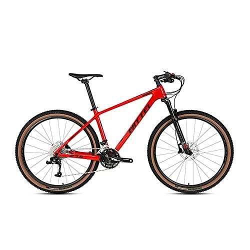 DSENIW 27,5/29-Zoll-Mountainbike Für Erwachsene Und Jugendliche, Leichte 30-Gang-Mountainbikes, Hydraulische Bremse, Rahmengrößen Für Herren, Mehrere Farben,Rot,29 * 19 inch
