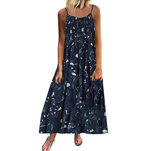 Tosonse Vestidos Bohemios para Mujer Vestido Largo Largo con Estampado Floral Vintage Y Talla Grande