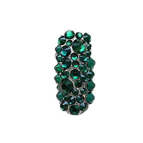 BANGSUN 300 Grains Nail Art Rhinestones Nail Gems Rhinestones Decorative Nail Jewelry Crystal Hot Deep Green