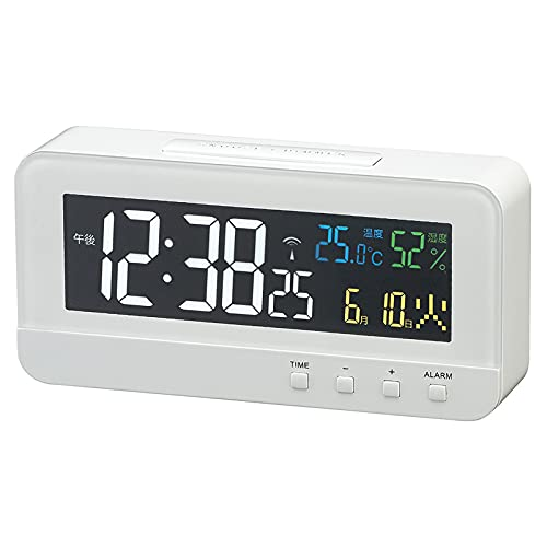 MAG(マグ) 置き時計 電波 デジタル カラーハーブ 温度 湿度 日付 曜日表示 T-684WH