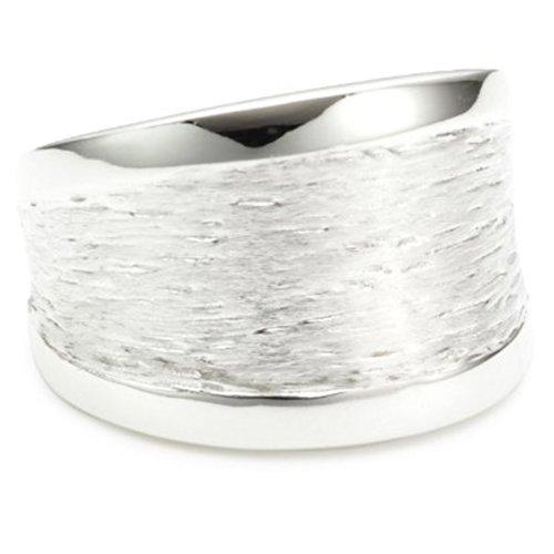 Vinani Ring Rillen massiv gebürstet Seiten glänzend Sterling Silber 925 Größe 62 (19.7) RMG62