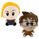 SCS Direct Doctor Who SuperBitz - Figuras coleccionables de peluche (10 y 13º Doctor), 4.5 pulgadas