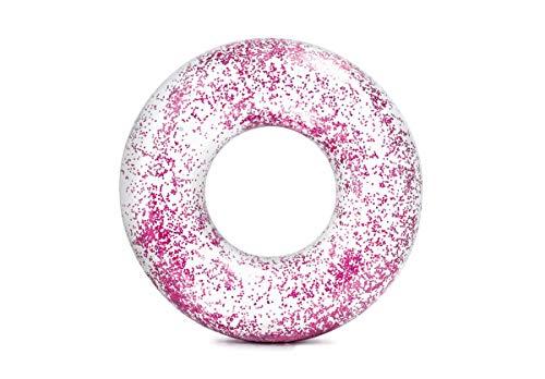 Intex Tube Schwimmreifen transparent Glitzer Ø119cm Pool pink