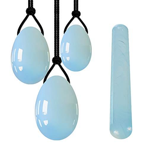 Opal Yoni Ei Set Kegel Jade Eier Vaginal Festziehen Kegel-Übung Yoni Massageball Heilstein Zum Trainieren Sie Die Beckenmuskeln