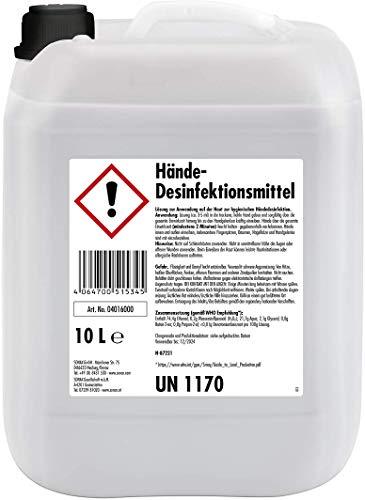 Sonax Hände-Desinfektionsmittel zur hygienischen Hand-Desinfektion   10-Liter-Kanister