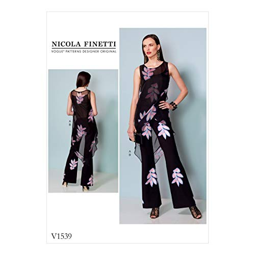 Vogue Patronen Chiffon mist Tuniek en Jumpsuit, Tissue, Multi-Colour, 20 x 0.5 x 25 cm
