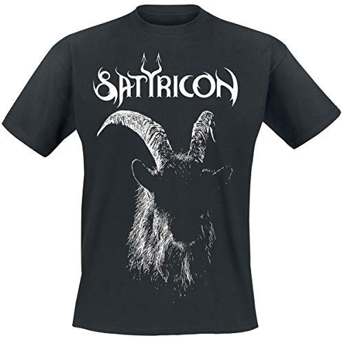 Satyricon Satyr Männer T-Shirt schwarz M 100% Baumwolle Band-Merch, Bands