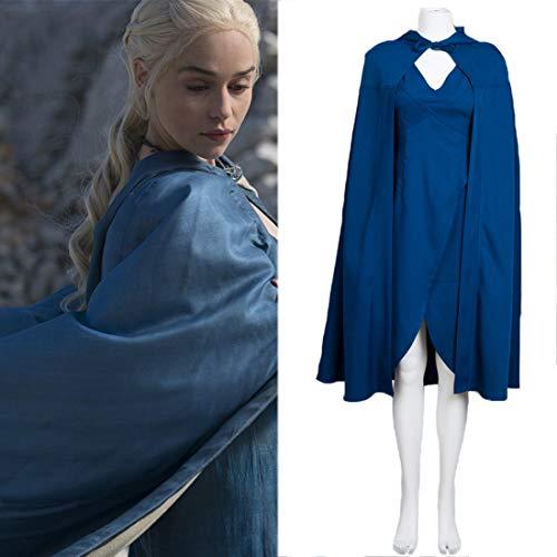 Rubyonly Daenerys Targaryen Cosplay Mujeres Adultos Juego De Tronos Disfraces Traje de la Navidad para Las Mujeres, XXXL