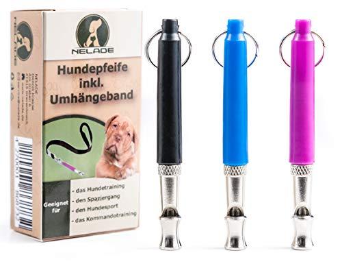 NELADE® Hundepfeife - bewährte Pfeife für die Hundeerziehung - hocheffektiv für's Hundetraining - Hund erfolgreich abrufen