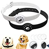 Finyosee 2 Pcs Silicone Protective AirTag Anti-Lost Dog Collar Necklace, Adjustable Pet Loop Holder...