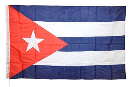 G.V. Bandiera Flag Cuba cm 90x150 Danza Cubana Latino Americana Che Guevara Tessuto Resistente