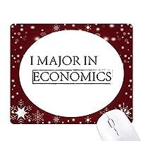 私の専攻は経済学の引用 オフィス用雪ゴムマウスパッド