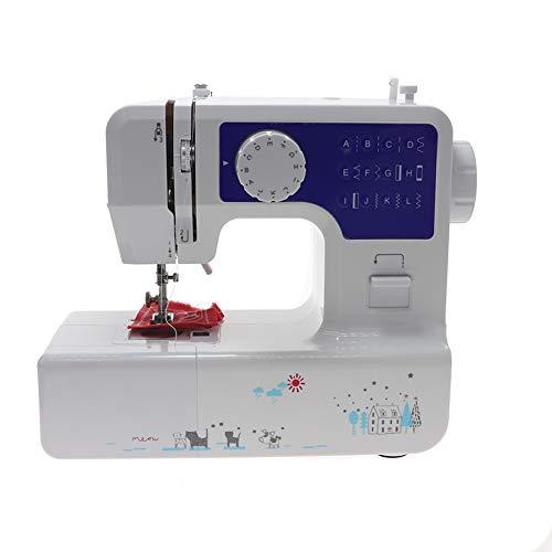 Naaimachine voor beginners, draagbare naaimachine Eenvoudig in gebruik voor volwassenen en kinderen 12 ingebouwde steken 2 snelheden Dubbel multifunctioneel elektrisch met voetpedaal