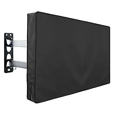 Outdoor TV Cover Fits 30  - 32  TV - Water and Dust Resistant - with Remote Control Storage Pocket