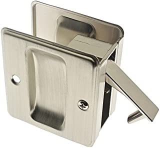 idh by St. Simons 25410-015 Premium Quality Solid Brass Pocket Passage Door Pull, Satin Nickel