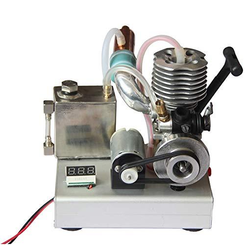 UIGJIOG DIY Nivel 15 Monocilinder Motor de Gasolina 2 Tiempo, Grupo de bajo Voltaje Micro 12V Generator, Modelo de Motor de Experiencia educativa,Manual