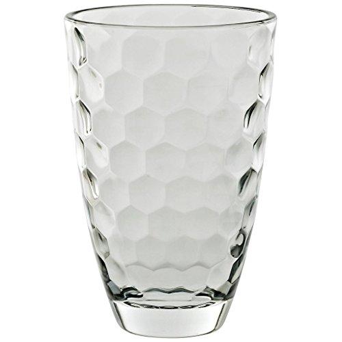 Vase Blumenvase Bouquet Vase Wabe H 24,5 cm Hochwertiges Glas Moderner Zeitloser Style Tischvase